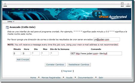 CronJob en Hostdime - judavi.com