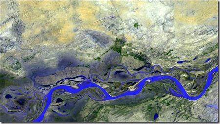 Timbuktú fotografía desde la estación espacial