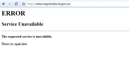 registraduria error colombia