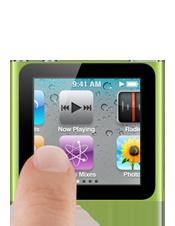 dedos sobre ipod nano nuevo