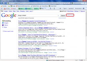 tengo google instant