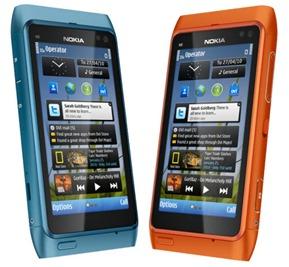 Nokia-N8 azul y rojo