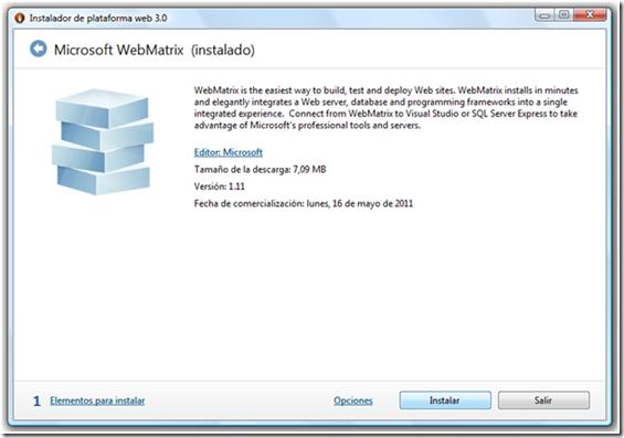 instalacion de webmatrix parte 1